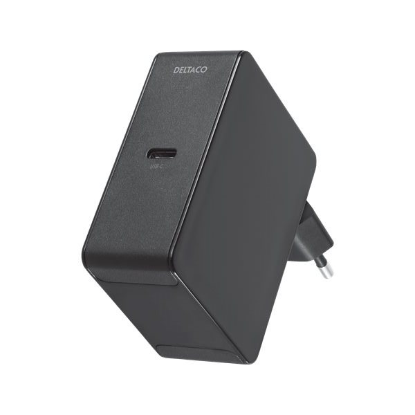Deltaco USB-C laddare med 45W Power Delivery - svart