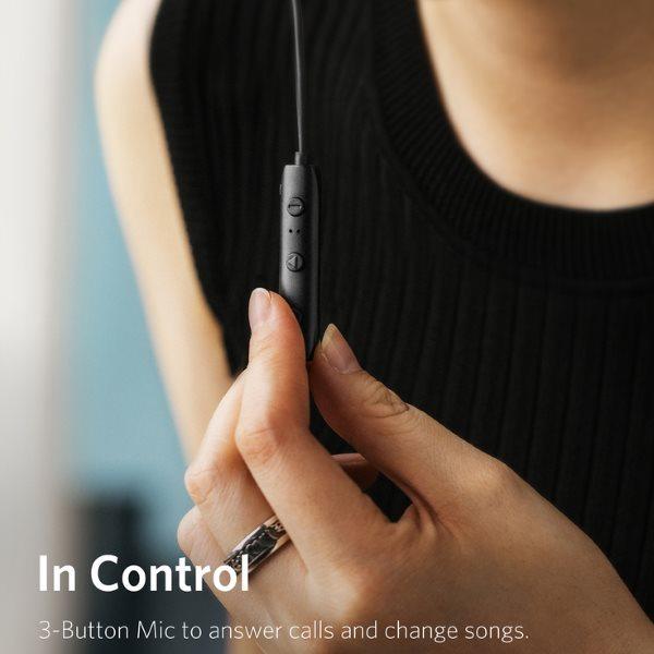 Anker Soundbuds Slim plus med kontrol