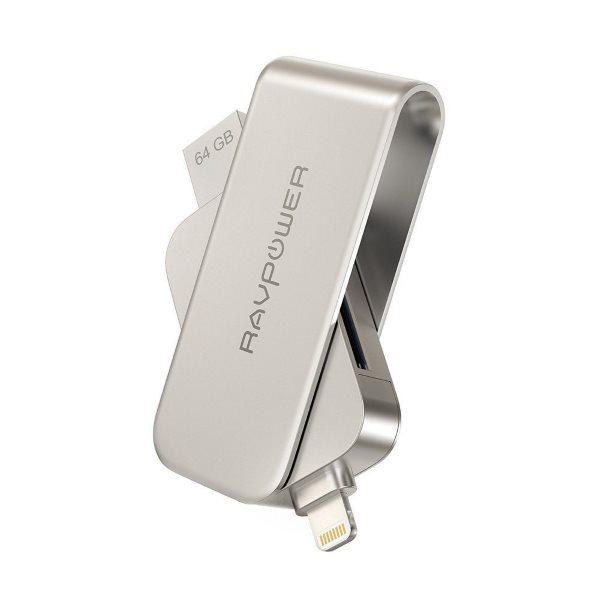 RAVPower 64G flashminne och kordadapter