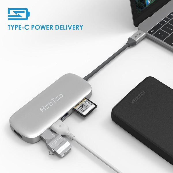 HooToo USB-C hubb med Power Delivery