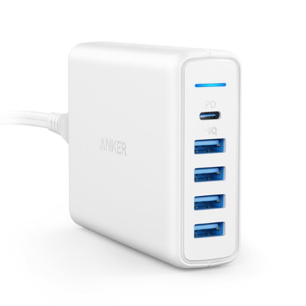 Anker PowerPort Speed Power Delivery 5 mobilladdare - vit