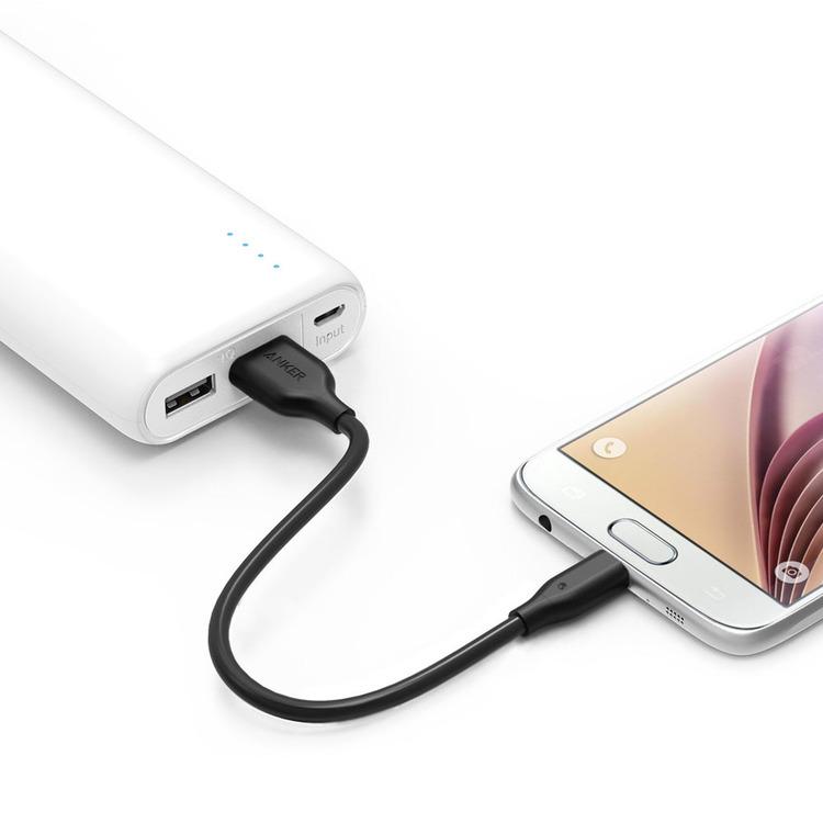 Anker PowerLine mikro-USB kabel 30cm 4-pack praktisk laddkabel