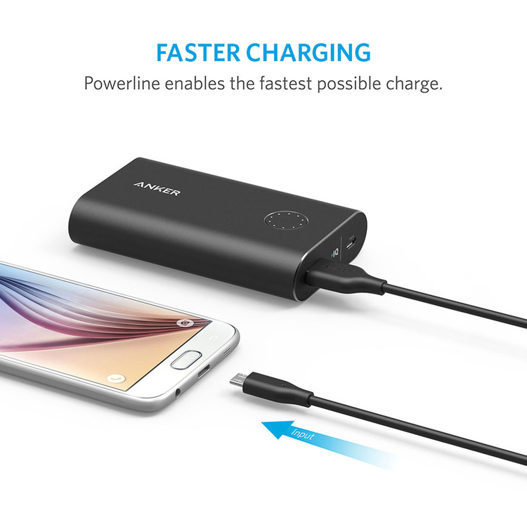 Anker PowerLine mikro-USB kabel 30cm 4-pack laddar snabbt