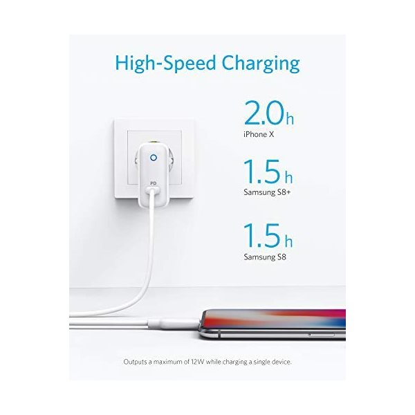 Anker PowerPort Speed I USB-C PD laddare ger snabb laddning
