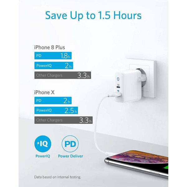 Anker PowerPort PD 2 mobilladdare ger snabb laddning för iPhone