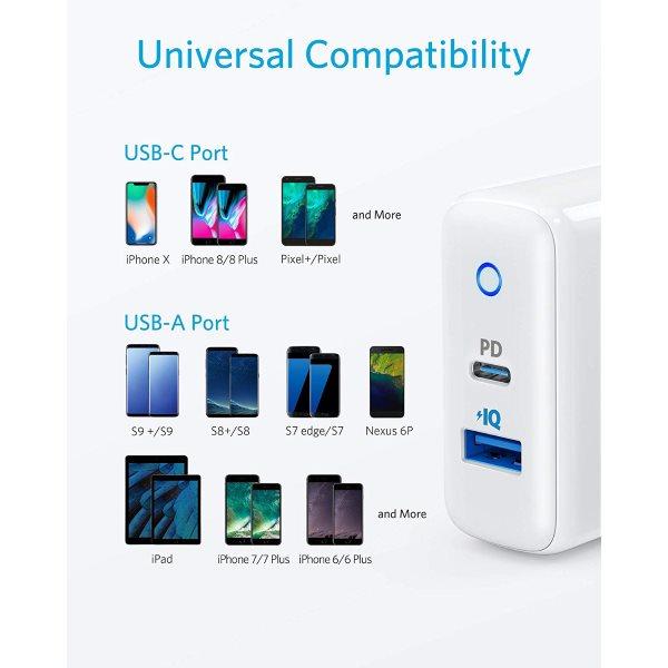 Anker PowerPort PD 2 USB C Power Delivery mobilladdare Mobilladdare och powerbanker för alla mobiler