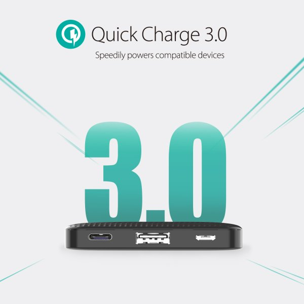RAVPower 20100mAh 45W Type C Power Delivery och QC 3 powerbank