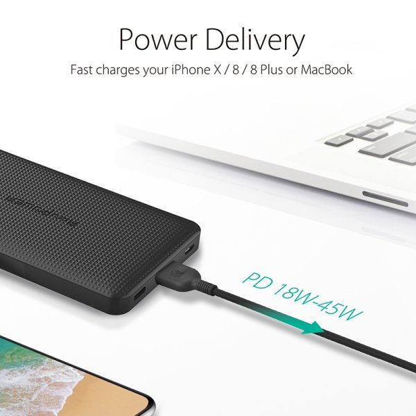 RAVPower 20100mAh 18W - 45W Type C Power Delivery och QC powerbank 1