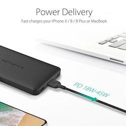 RAVPower 20100mAh USB-C PD 45W + QC3.0 powerbank