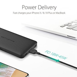 RAVPower 20100mAh USB-C PD 45W + QC3.0 powerbank