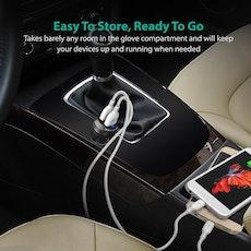 RAVPower mobilladdare för bilen med Quick Charge