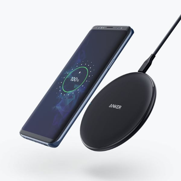 Qi Trådlös Snabbladdning Desktop Mobil Laddare Pad för Samsung S8 + S7 S7 Edge