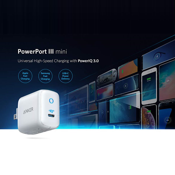 Anker PowerPort III Mini 30W Power Delivery och Quick Charge
