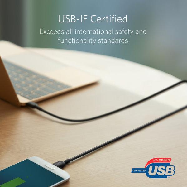 Anker PoweLine II USB-C - USB-C 180cm certifierad