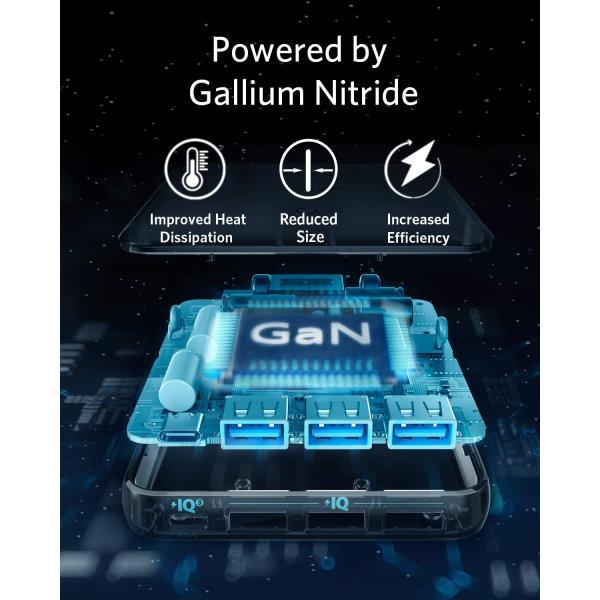 Anker PowerPort Atom III Slim 4 uttag ny GaN
