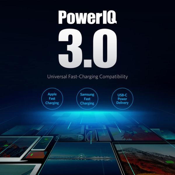 Anker PowerPort Atom III 1 uttag med PowerIQ 3