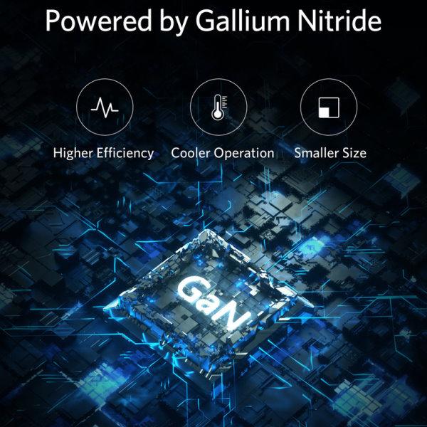 Anker PowerPort Atom III 1 uttag ny GaN