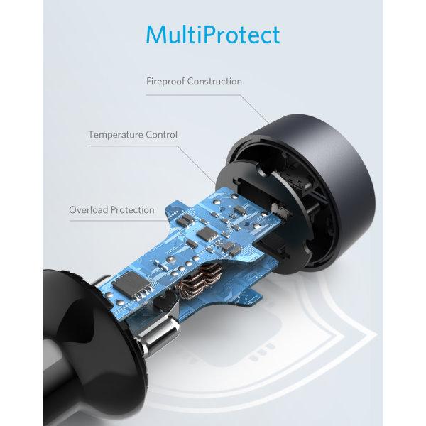 Anker PowerDrive III Duo mobilladdare säker