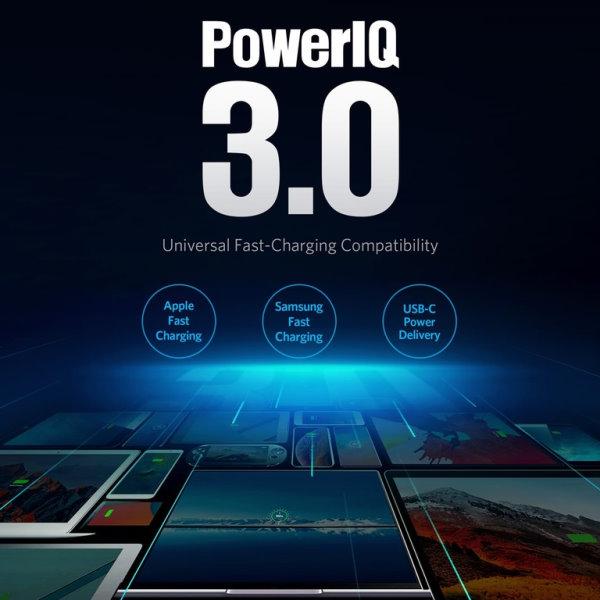 Anker PowerDrive III Duo mobilladdare med PowerIQ 3