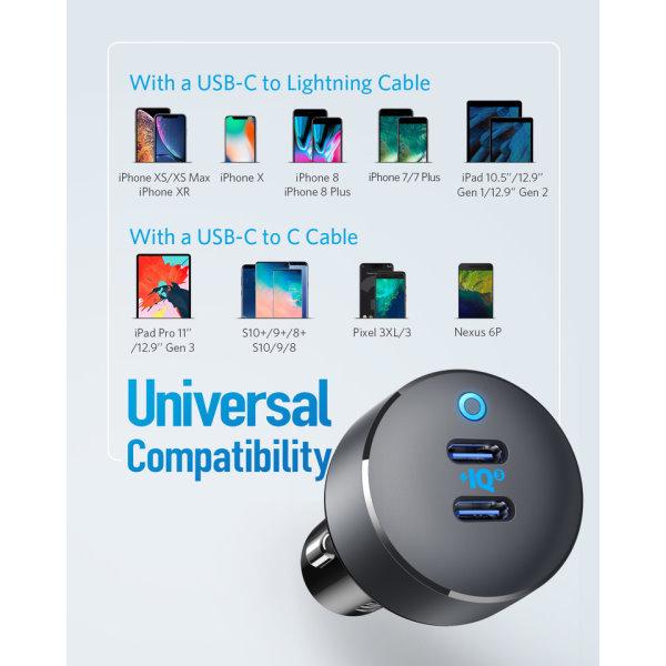 Anker PowerDrive III Duo mobilladdare med USB-C