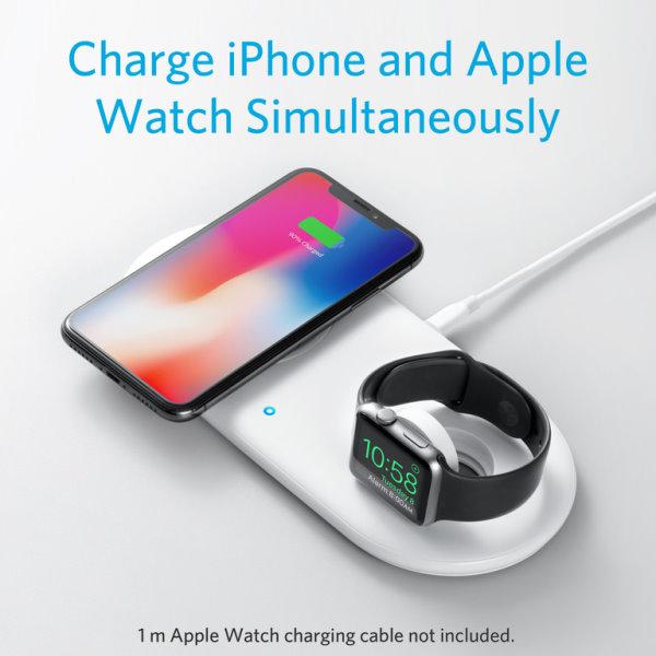 Anker PowerWave med Watch laddare laddar Watch och iPhone