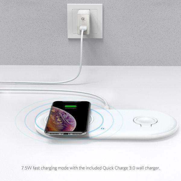 Anker PowerWave med Watch laddare snabbladdar iPhone