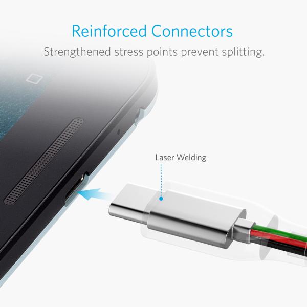 Anker PowerLine USB-C USB-A 300cm stark konstruktion