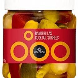 BANDERILLAS (oliver, inlagd lök, inlagda gurkor, kryddig peppar)
