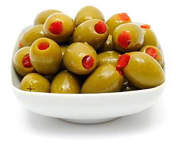 Manzanilla oliver fyllda med pimiento