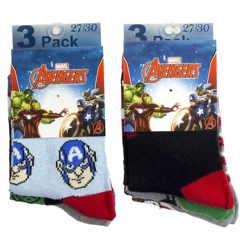 Avengers 3-pack strumpor