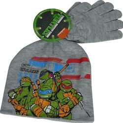 Turtles set med mössa & vantar