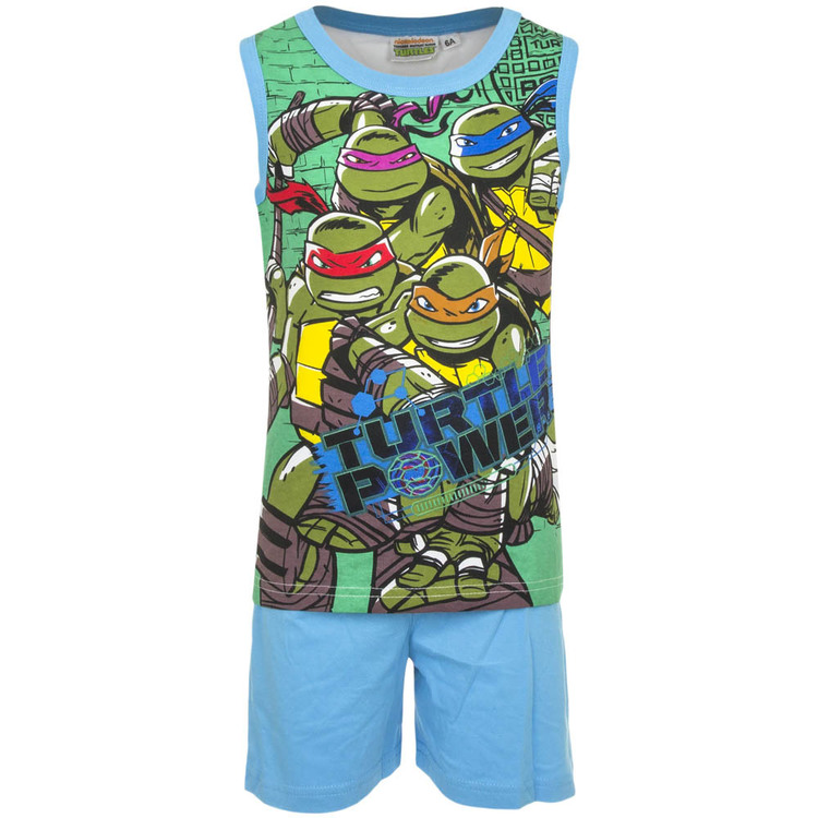 Turtles Linne & shorts set