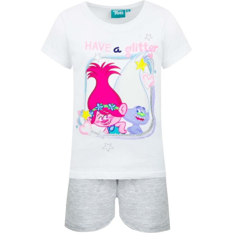 Trolls pyjamas med glitter tryck 2 delar