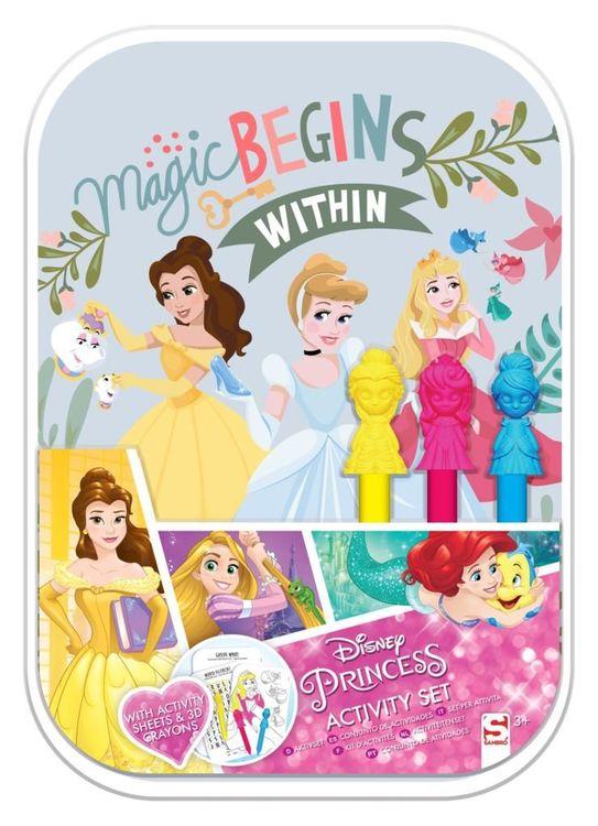 Disney Prinsess Pyssel/Målarset med 3D kritor