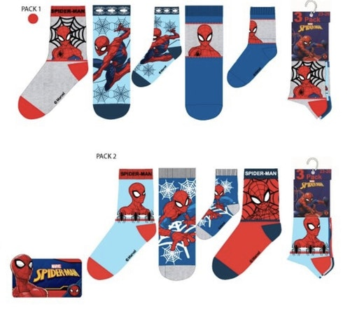 Spiderman 3-pack strumpor 27/30