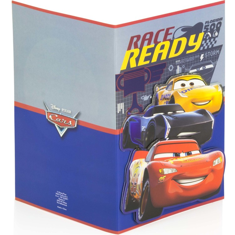 Cars Gratulations kort 3D MED KUVERT