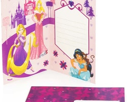 Disney Prinsess Gratulations kort 3D med kuvert