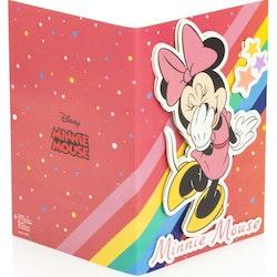 Minnie Mouse Gratulations kort 3D med kuvert
