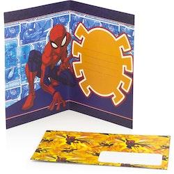 Spiderman Gratulations kort 3D med kuvert