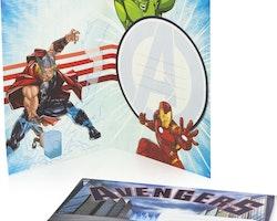 Avengers Gratulations kort 3D med kuvert