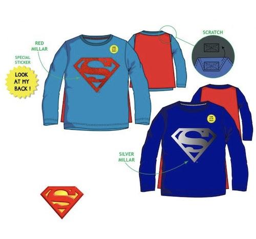 Superman tröja med avtagbar mantel