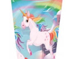 Unicorn plastmugg 260 ml