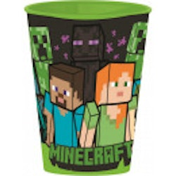 Minecraft plastmugg 430 ml