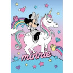 Minnie mouse/Unicorn flecce filt/pläd