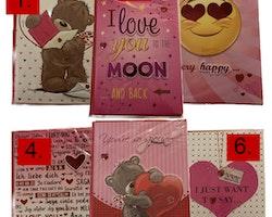 """Gratulationskort """"I LOVE YOU"""" Stort kort med kuvert"""