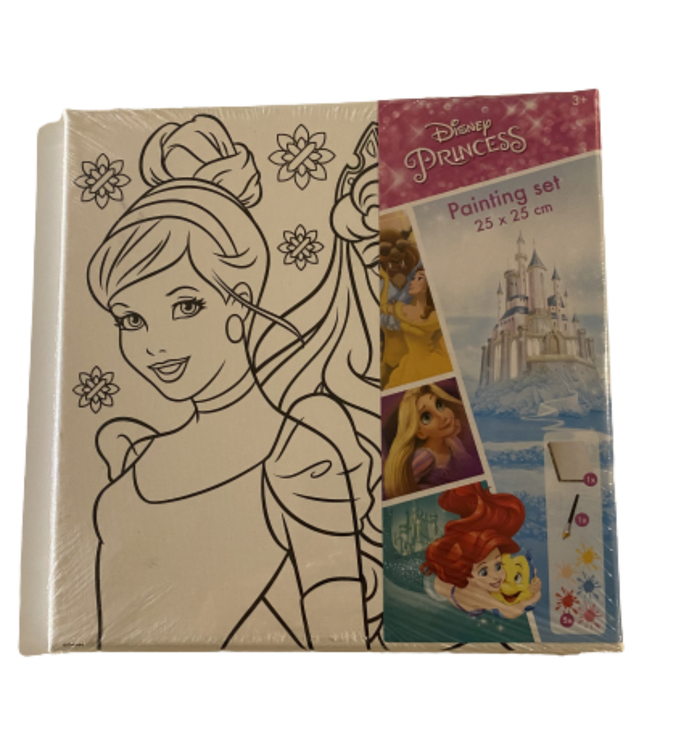 Disney Prinsess Canvas tavla - Måla din egna tavla