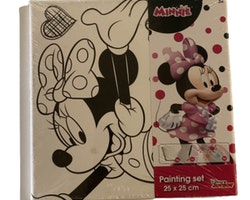 Minnie Mouse Canvas tavla - Måla din egna tavla