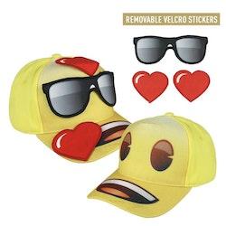 Emoji keps med avtagbara stickers