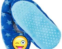 Emoji tofflor i teddy fleece