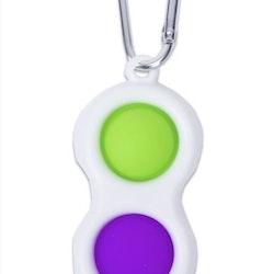 "POP IT Fidget Toy ""Simple Dimple"" Nyckelring"
